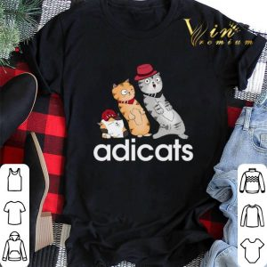 adidas adicats cartoon cat shirt