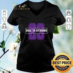 23 Purple Ribbon Oskar Strong Fight Against Cancer shirt sweater