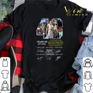 43 years of Star Wars 1977 2020 The Rise of Skywalker all signed shirt sweater