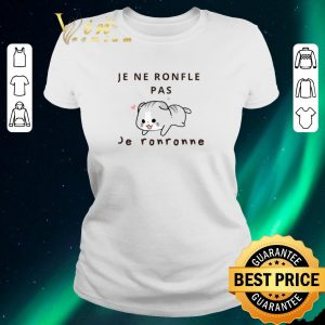 Awesome Cat Je Ne Ronfle Pas Je Ronronne shirt sweater