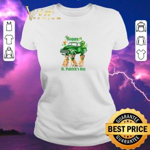 Awesome Golden Retriever Happy St Patrick's Day Four-leaf clover shirt sweater