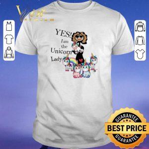 Awesome Unicorns Yes I Am The Unicorn Lady shirt sweater