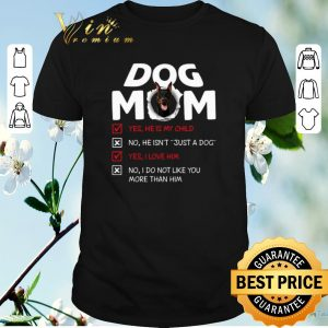 Doberman dog mom yes he is my child no he isn't just a dog love shirt sweater