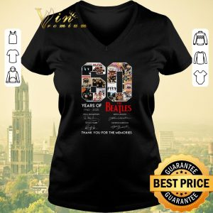 Funny 60 Years Of The Beatles 1960 2020 Thank You For The Memories shirt sweater