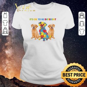 Funny Golden Retriever It's ok to be different Autism Awareness shirt sweater