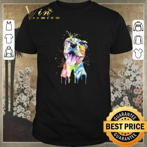 Hot Resting Pitbull Face Artistic Colors shirt sweater
