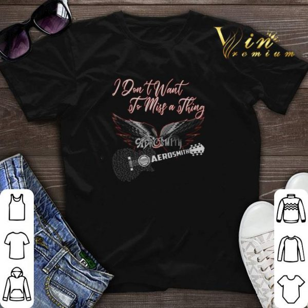 I don't want to miss a thing Aerosmith guitar shirt sweater