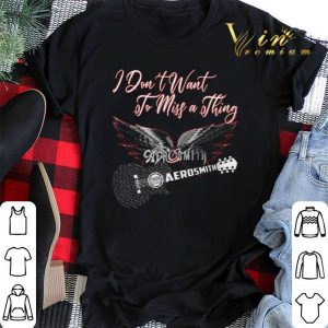 I don't want to miss a thing Aerosmith guitar shirt sweater 1