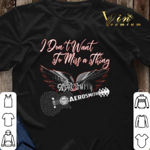 I don't want to miss a thing Aerosmith guitar shirt sweater 2
