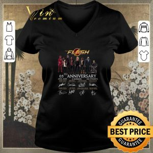 Nice The Flash 05th anniversary 2014 2019 all signature autographed shirt sweater