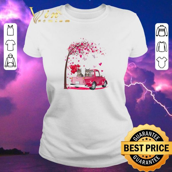 Official Cats Pink Truck Valentine's Day autumn leaf.png sweater