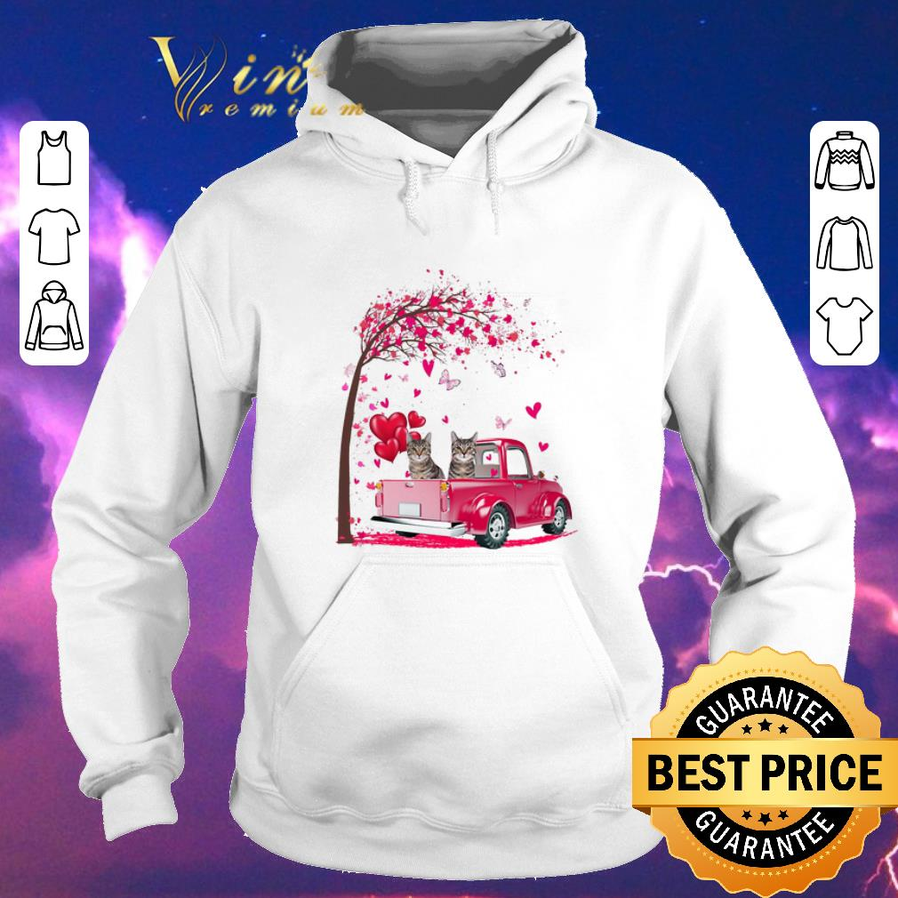 Official Cats Pink Truck Valentine s Day autumn leaf png sweater 4 - Official Cats Pink Truck Valentine's Day autumn leaf.png sweater