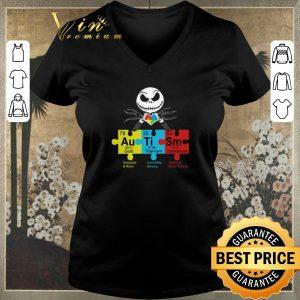 Official Jack Skellington Autism Awareness Gold Titanium Samarium shirt sweater