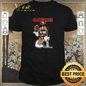 Official San Francisco 49ers Disney Mickey player super bowl shirt sweater