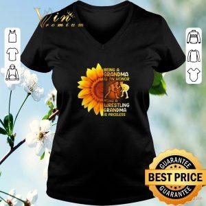 Pretty Sunflower being a grandma is a honor wrestling grandma priceless shirt sweater