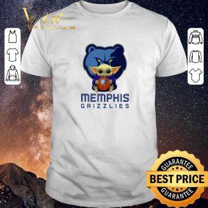 Top Baby Yoda Hug Memphis Grizzlies Star Wars Mandalorian shirt sweater