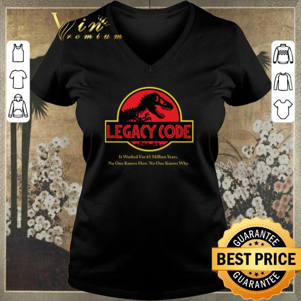 Top Jurassic Park Legacy Code it worked for 65 million years shirt sweater