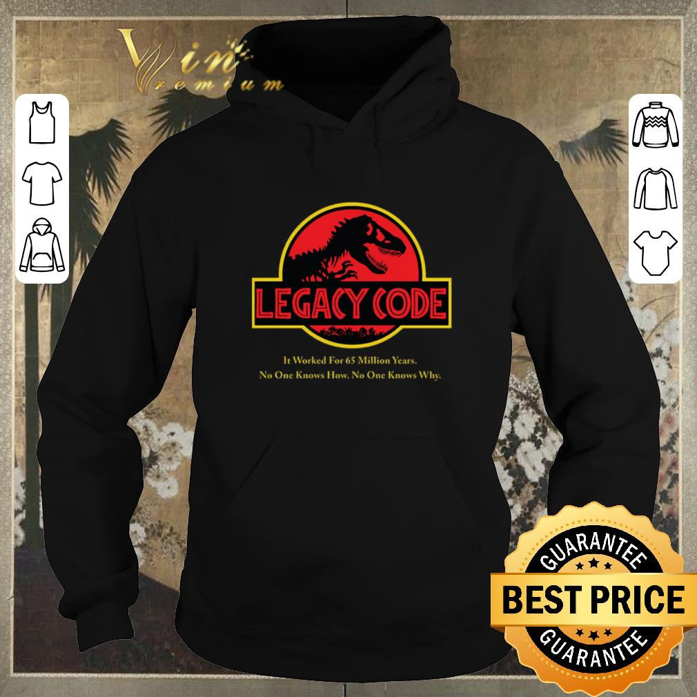 Top Jurassic Park Legacy Code it worked for 65 million years shirt sweater 4 - Top Jurassic Park Legacy Code it worked for 65 million years shirt sweater