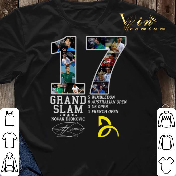 17 Grand Slam Novak Djokovic Logo Signature Shirt Sweater Hoodie Sweater Longsleeve T Shirt