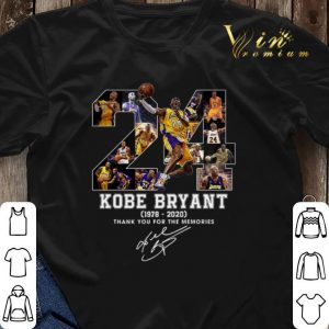 24 RIP Kobe Bryant 1978 2020 thank you for the memories signed shirt sweater 2