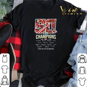 50 years Kansas City Chiefs Champions 1969-2019 signatures thank you for the memories shirt sweater