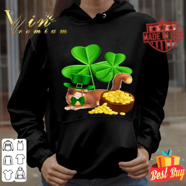 Abyssinian Cat St Patrick's Day Leprechaun Cat Lover shirt