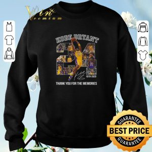 Awesome 24 Kobe Bryant signature 1978-2020 thank you for the memories shirt sweater 2