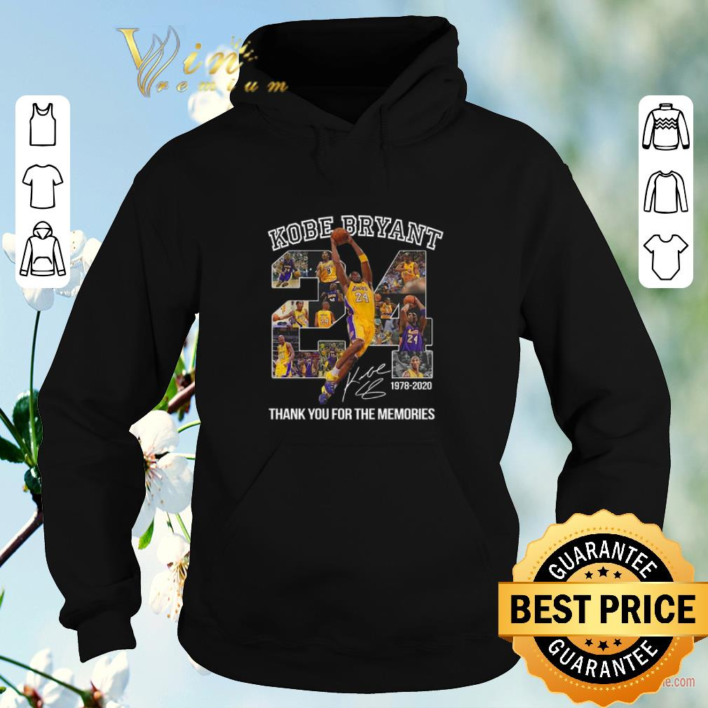 Awesome 24 Kobe Bryant signature 1978 2020 thank you for the memories shirt sweater 4 - Awesome 24 Kobe Bryant signature 1978-2020 thank you for the memories shirt sweater