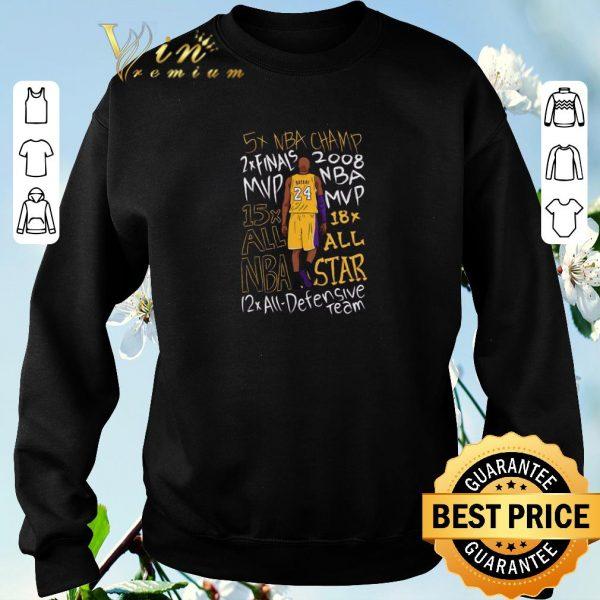 Awesome 5x NBA Champ 2x finals 2008 MVP 15x 18x all NBA Star Kobe Bryant shirt sweater