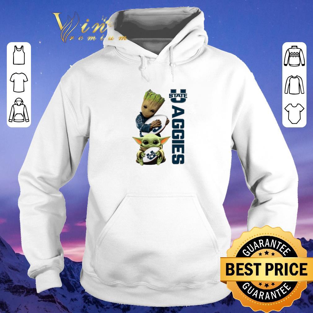 Awesome Baby Groot Baby Yoda Hug Utah State Aggies Star Wars shirt sweater 4 - Awesome Baby Groot Baby Yoda Hug Utah State Aggies Star Wars shirt sweater