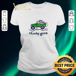 Awesome Jeep car Lucky girl St. Patrick's day shirt sweater 1
