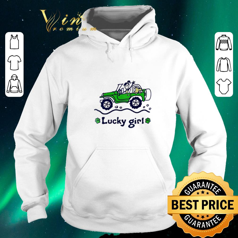 Awesome Jeep car Lucky girl St Patrick s day shirt sweater 4 - Awesome Jeep car Lucky girl St. Patrick's day shirt sweater