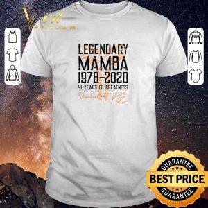 Awesome Mamba out Legendary Mamba 1978 2020 41 years of greatness shirt