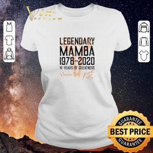 Awesome Mamba out Legendary Mamba 1978 2020 41 years of greatness shirt 1