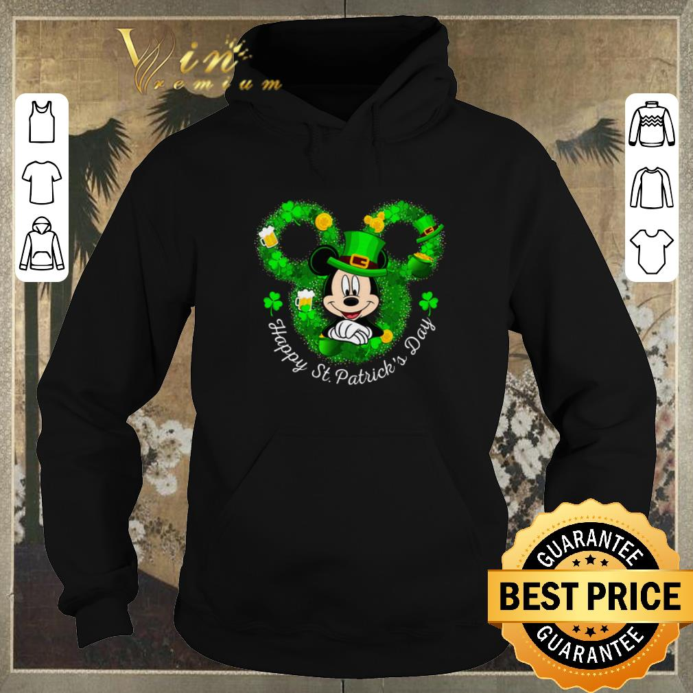 Awesome Mickey mouse Happy St Patrick s Day shirt sweater 4 - Awesome Mickey mouse Happy St. Patrick's Day shirt sweater