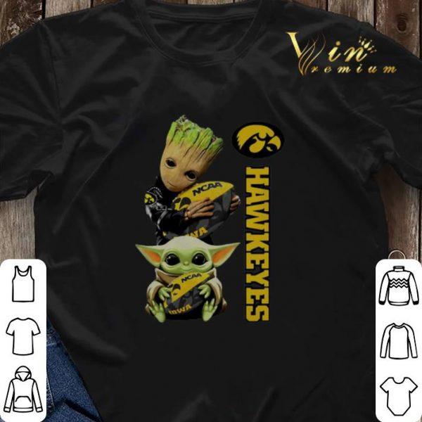 Baby Groot And Yoda Hug Iowa Hawkeye shirt sweater
