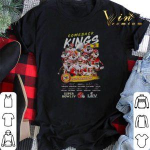 Comeback Kings Kansas City Chiefs Kingdom Super Bowl IV Signed shirt sweater