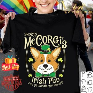 Corgi St. Patrick's Day Shorty McCorgi Irish Pub shirt