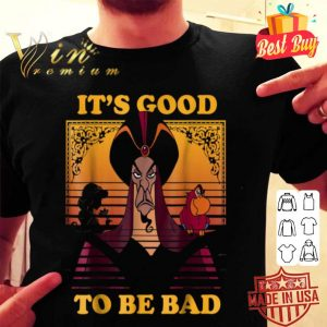 Disney Aladdin Jafar Good To Be Bad Dusk Colors shirt