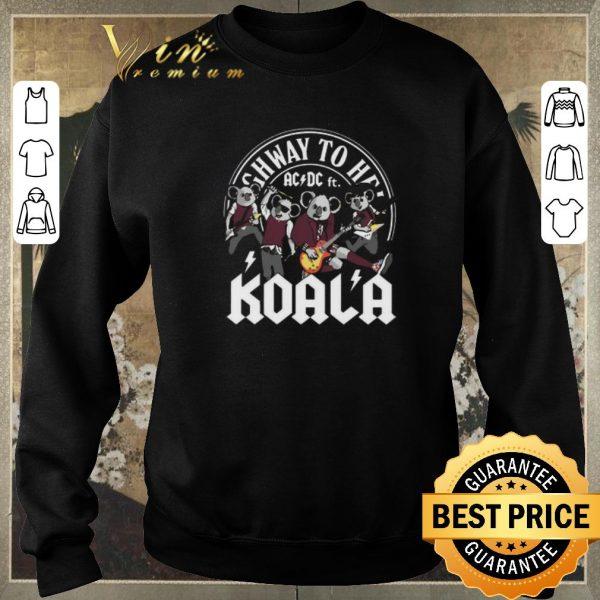 Funny Koala mashup ACDC ft. Highway to hell shirt sweater