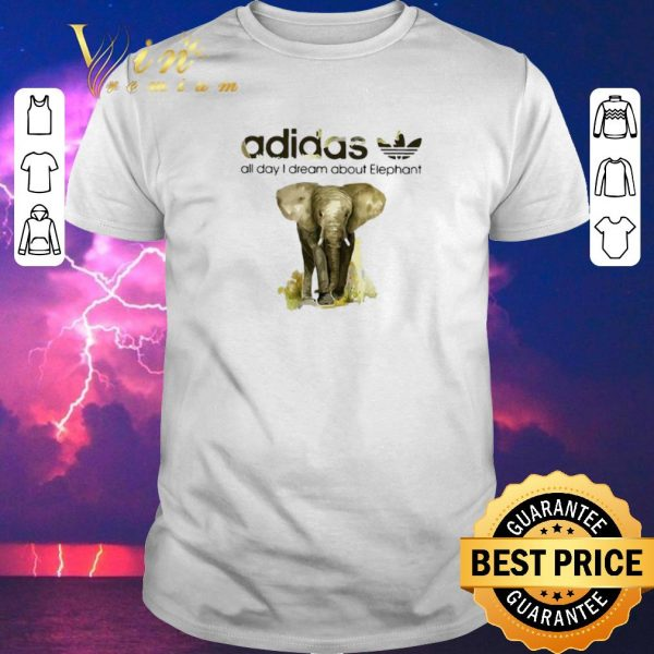 Funny addicted adidas all day I dream about Elephant shirt sweater