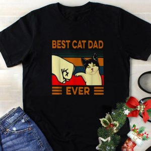 Hot Best cat dad ever vintage shirt
