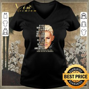 Hot Marie Fredriksson 1958-2019 signature thank you for the memories shirt sweater