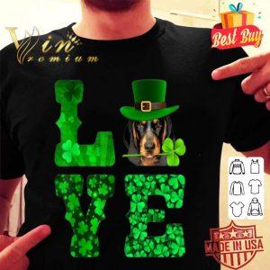 Love Bluetick Coonhound Shamrock Happy St. Patrick Day shirt