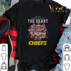 Never Underestimate The Heart Of The Kansas City Chiefs shirt sweater