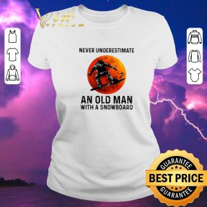 Official Sunset Never underestimate an old man with a snowboarding sports shirt sweater