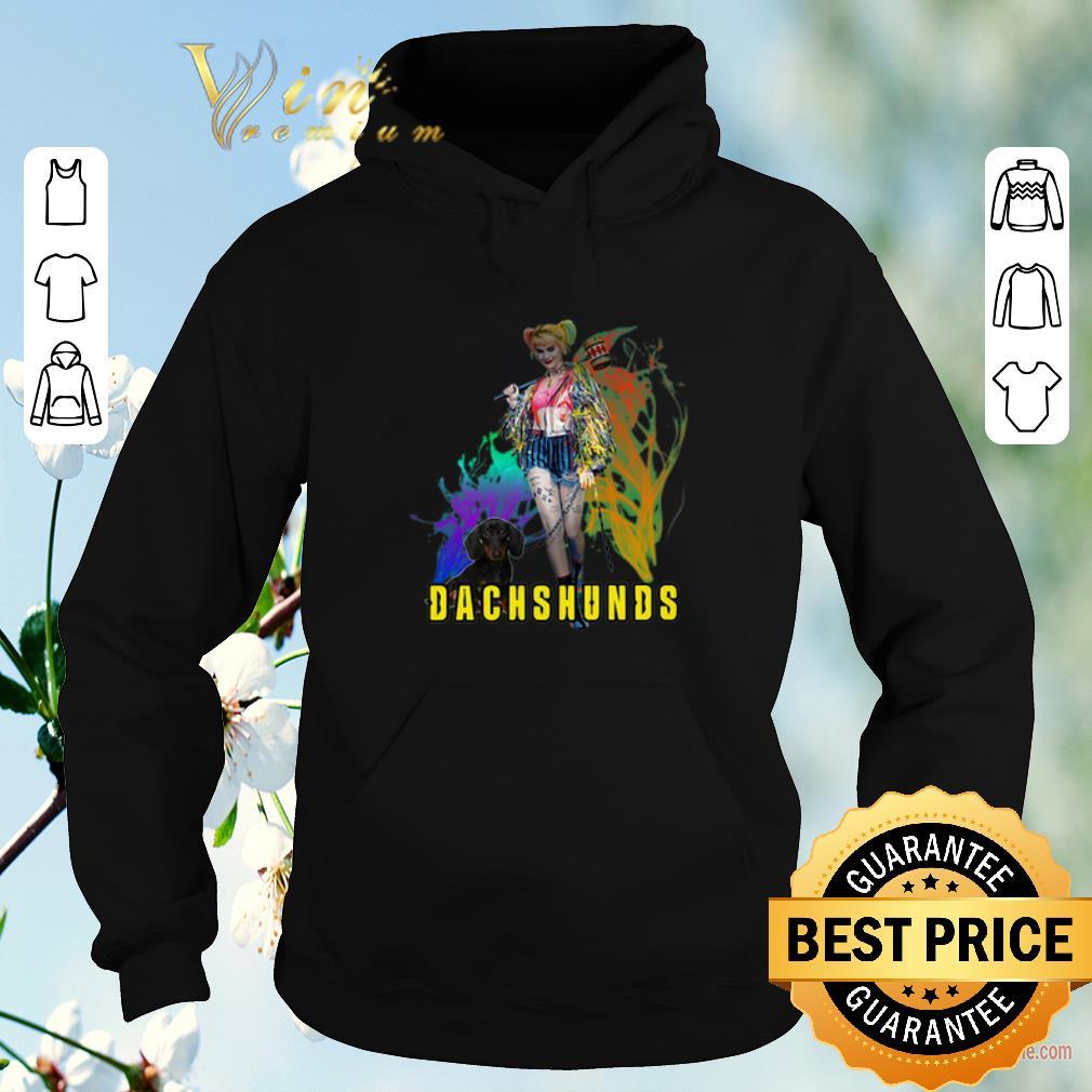Original Harley Quinn Dachshunds Birds of Prey shirt sweater 4 - Original Harley Quinn Dachshunds Birds of Prey shirt sweater