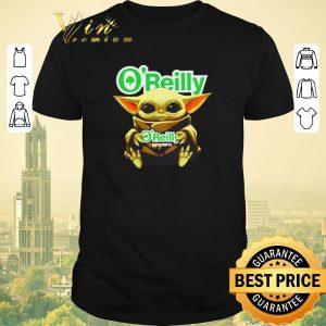 Premium Star Wars Baby Yoda Hug O'Reilly Auto Parts shirt sweater