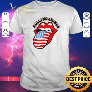 Premium USA Tongue Rolling Stones American flag shirt sweater