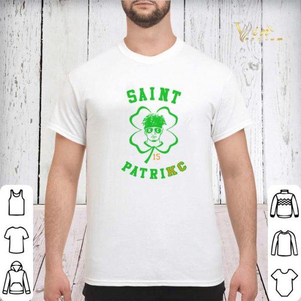 Saint Patrick day PatriKC Patrick Mahomes 15 Kansas City Chiefs shirt sweater